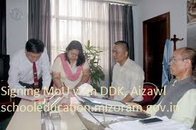 Signing of MOU with DDK Aizawl